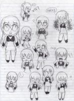 Chibi Ame everywhere by Peketigregirl