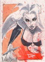 Lady Death sketchcard by qualano