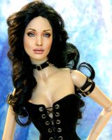 Doll repainted as Angelina by noeling