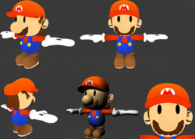 Custom Paper Mario 3d Model by Nibroc-Rock