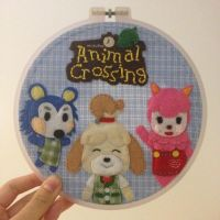 Animal Crossing Embroidery Hoop by cloudy-days95