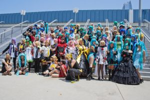 Vocaloid Gathering - Group Shot - Anime Expo 2012 by EriTesPhoto