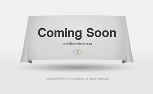 Coming Soon on arvidbrane.se by Arvid23