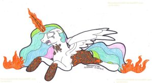 MLP: Celestia Becomes Solar Flare by SkywalkerGirl666
