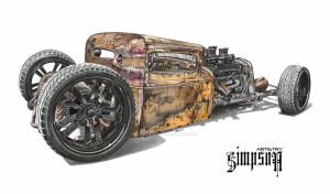 31' Ford Rat by SIMPSONARTISTRY