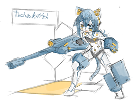 +Techno kitty+ by Endless-warr
