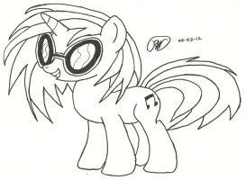 Vinyl Scratch, Hoof Drawn by Ratchet-Wrench