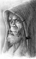 Orc charcoal scetch by MarschelArts