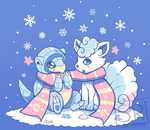 Frosty Forms - Vulpix and Sandshrew by SarahRichford