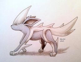 Steel-type Eeeveelution: Chromeon by atta9