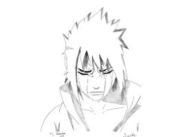 Sasuke Crying by FateSunset