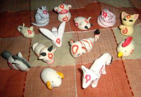 Okami zodiac clay models by ASakuraZaki