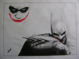 Batman and Joker by elartificioso