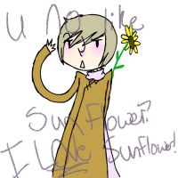 U NO LIEK SUNFLOWER!? by hetalia-is-sexy