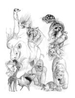 animal sketch page by GirlNamedEd
