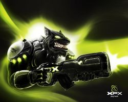 XFX Dog the warrior by 7kive