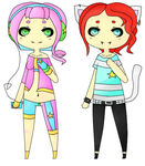 Galaxy and Neko Adoptables (OPEN) by Luffy-x-Ryusaki