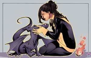 shadowcat and lockheed by jewelians
