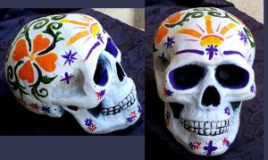 Painted Skull by MReyna