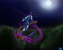 trixie and  sparkle by RubleGun