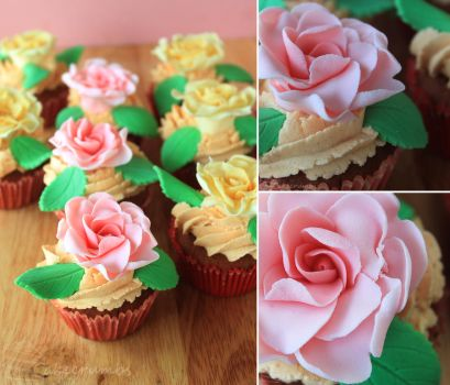 Spicy Rose Cupcakes by cakecrumbs