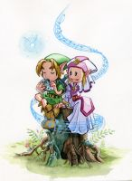 zelda... ocarina of time by Katie-O