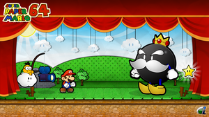 Super Paper Mario 64 - vs King Bob-Omb by ShadowLifeman