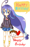 Happy B-DAY Veronica~ by princepudding