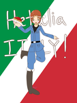 Hetalia Italy ( art trade with SooTheGreat ) by DawiDawi521