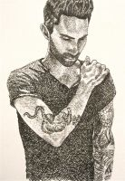 Adam Levine - Cross Hatching by Trista-Willows