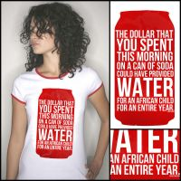 Carbonated Water T-shirt by IshaanMishra