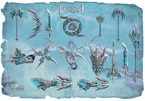 Tera Weapons Event18 by Tiffli