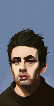 James Dean Del Toro - by DanLuVisiArt