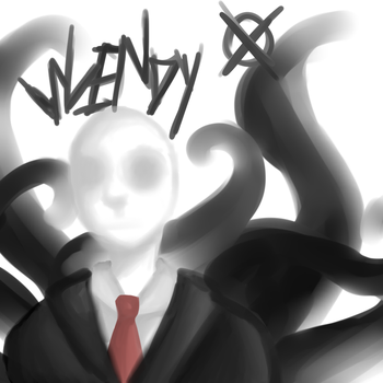 Slenderman sketch by RaenyBoots