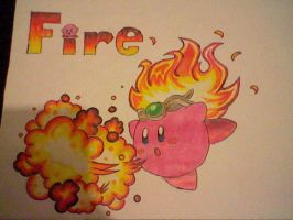 Fire kirby by Perfect56