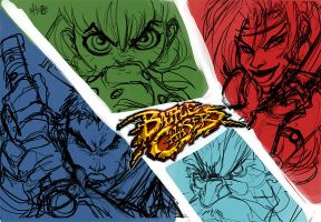 battle chasers WIP by shoze