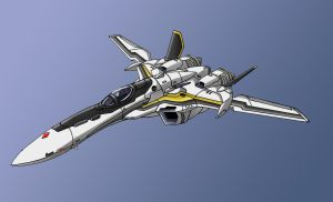 VF-25 Fighter by zeiram0034