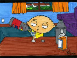 Stewie Drinkin by DirtyD41