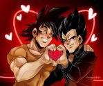 Commission: Super Saiyan Love by zillabean