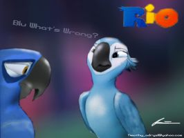 Blu What's Wrong? by Adry53