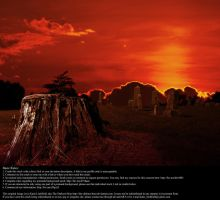 Graveyard Sunset 01 - Stock by Thy-Darkest-Hour