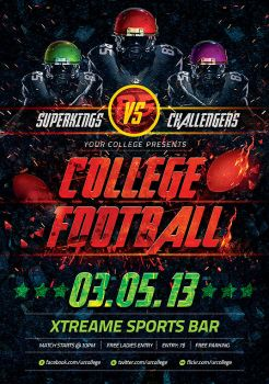 College Football Flyer by mantushetty