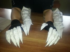 Skyrim Daedric Gauntlets incl. Fingers by Mimo512