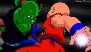 Piccolo vs Krillin by guilleapi