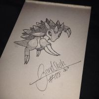 #028 - Sandslash by poke-dots