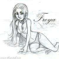 Freya Sketch by kina