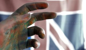 Hand after Pastel drawing by JulsBlack