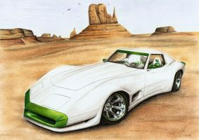 Chevy Corvette - Wastehound by Medvezh