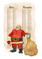 Christmas card, Santa+List by JMarcDodsonJr