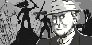 Robert E.Howard by GeorgieGanarf